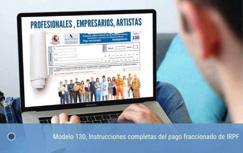 Modelo 130, Instrucciones del pago fraccionado de IRPF | cde
