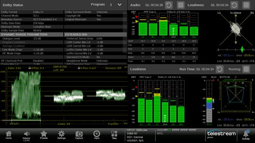 Telestream Releases Latest PRISM Monitoring Software with New Audio Tools