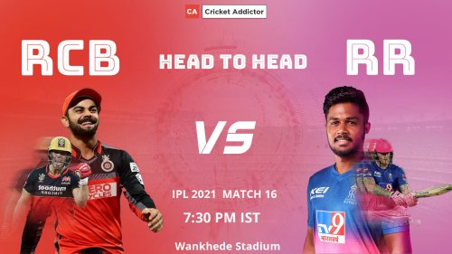 IPL 2021, Match 16: Royal Challengers Bangalore vs Rajasthan Royals (RCB vs RR) – Head-to-Head Records