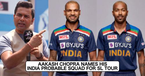 Aakash Chopra Names His Probable India Squad For Sri Lanka Tour; Picks Shikhar Dhawan As Captain