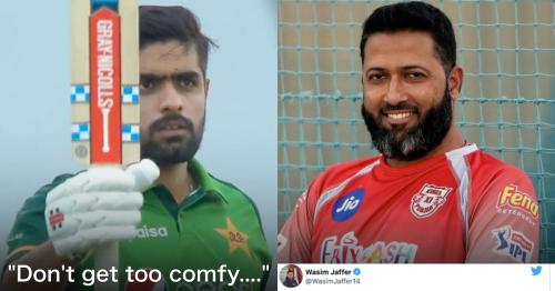 Wasim Jaffer Takes A Cheeky Dig While Congratulating Babar Azam On Becoming No. 1 ODI Batsman