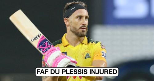 IPL 2021: Massive Blow For CSK As Faf du Plessis Gets Injured Ahead Of UAE Leg
