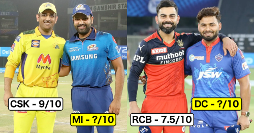 IPL 2021: Rating Chances Of Each Franchise Winning The Tournament After Their Performance In First Half