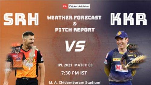 IPL 2021, Match 3: SunRisers Hyderabad vs Kolkata Knight Riders (SRH vs KKR) – Weather Forecast And Pitch Report