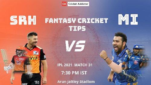 SRH vs MI Dream11 Prediction, Fantasy Cricket Tips, Playing XI, Pitch Report, Dream11 Team, Injury Update – VIVO IPL 2021