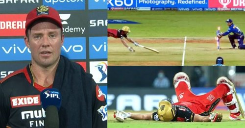 """""""Felt like I was running backwards"""": AB de Villiers throws light on his run-out in IPL 2021 opener"""