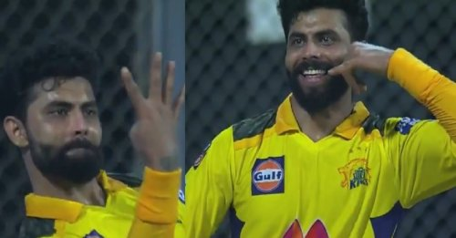 IPL 2021: WATCH – Ravindra Jadeja's hilarious reaction after grabbing his fourth catch against RR