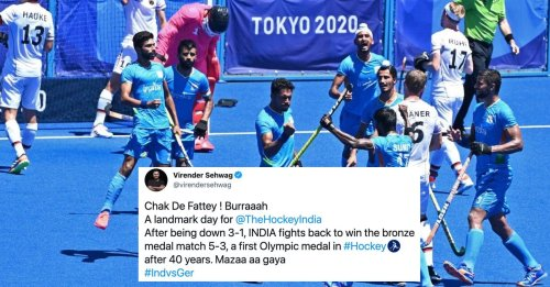 Cricket fraternity erupts as India beat Germany to clinch bronze at Tokyo Olympics 2020
