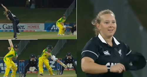 NZW vs AUSW: WATCH – White Ferns' spinner Leigh Kasperek stuns everyone with a 38 kmph delivery