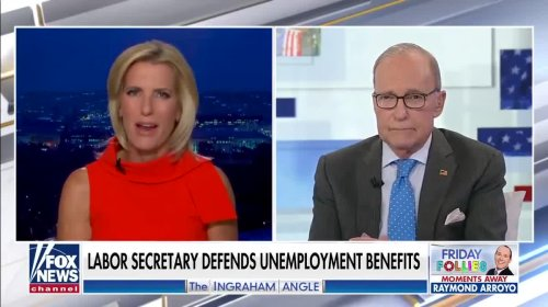 Fox News Edits Out Larry Kudlow's Support Of Biden's Jobs Report