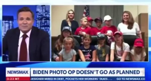 Newsmax Host's Gambit To Slam Biden Blows Up In His Face