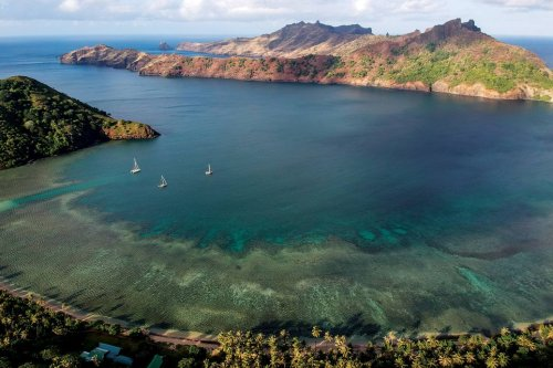 Cruising Anaho Bay, Marquesas