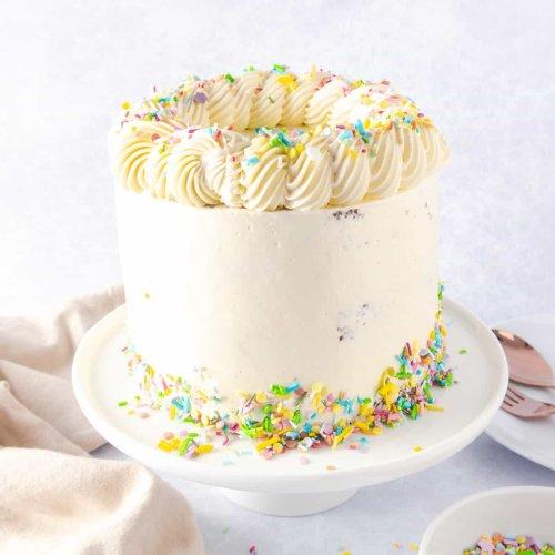 Softest & Fluffiest Vanilla Layer Cake