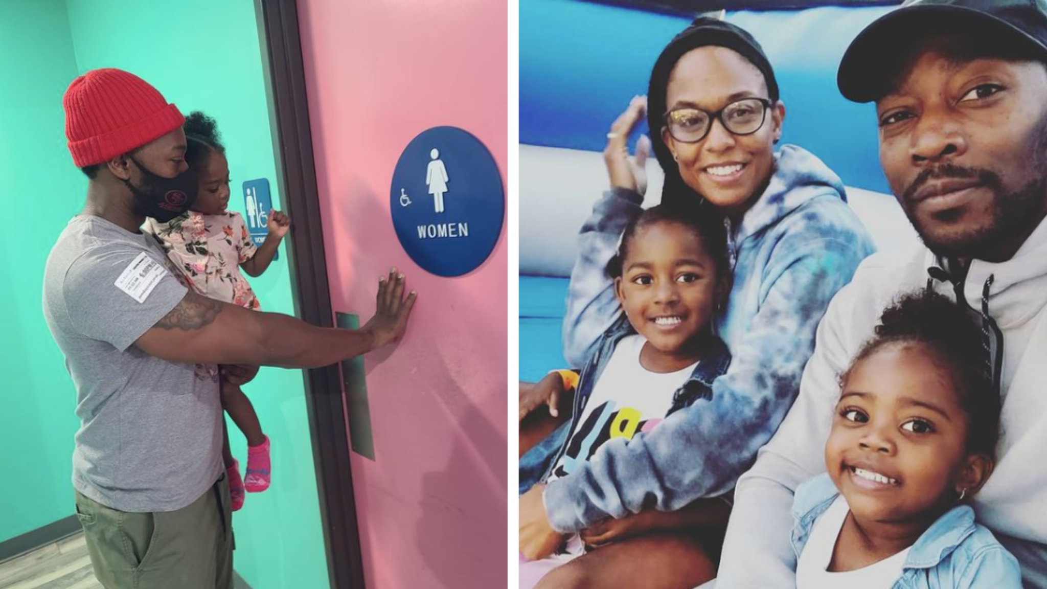 Dad Shares Why He Takes Daughters Into Women's Restrooms & Doesn't Care What Haters Think