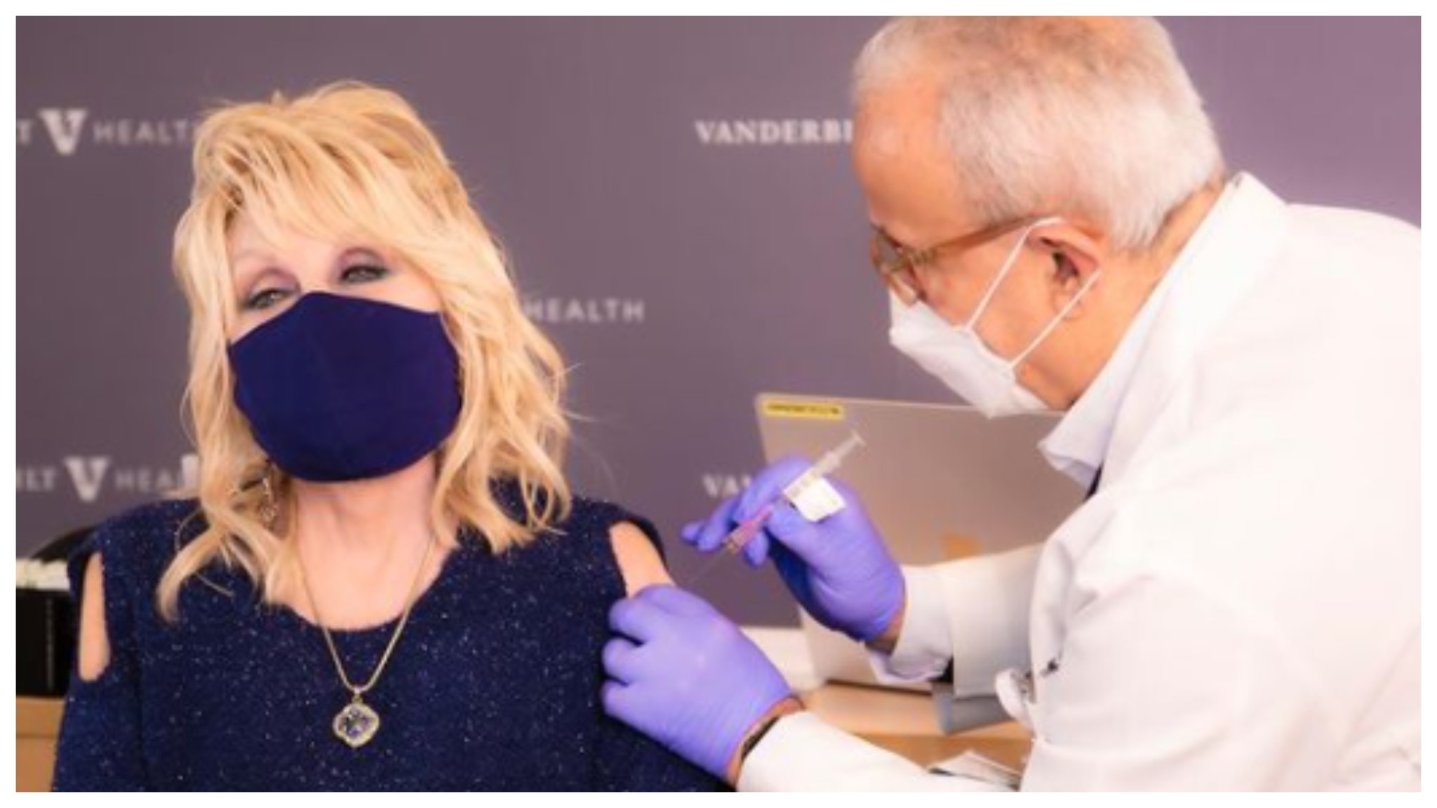 Dolly Parton Gets Vaccine She Helped Fund, Sings Clever Version Of 'Jolene' To Celebrate