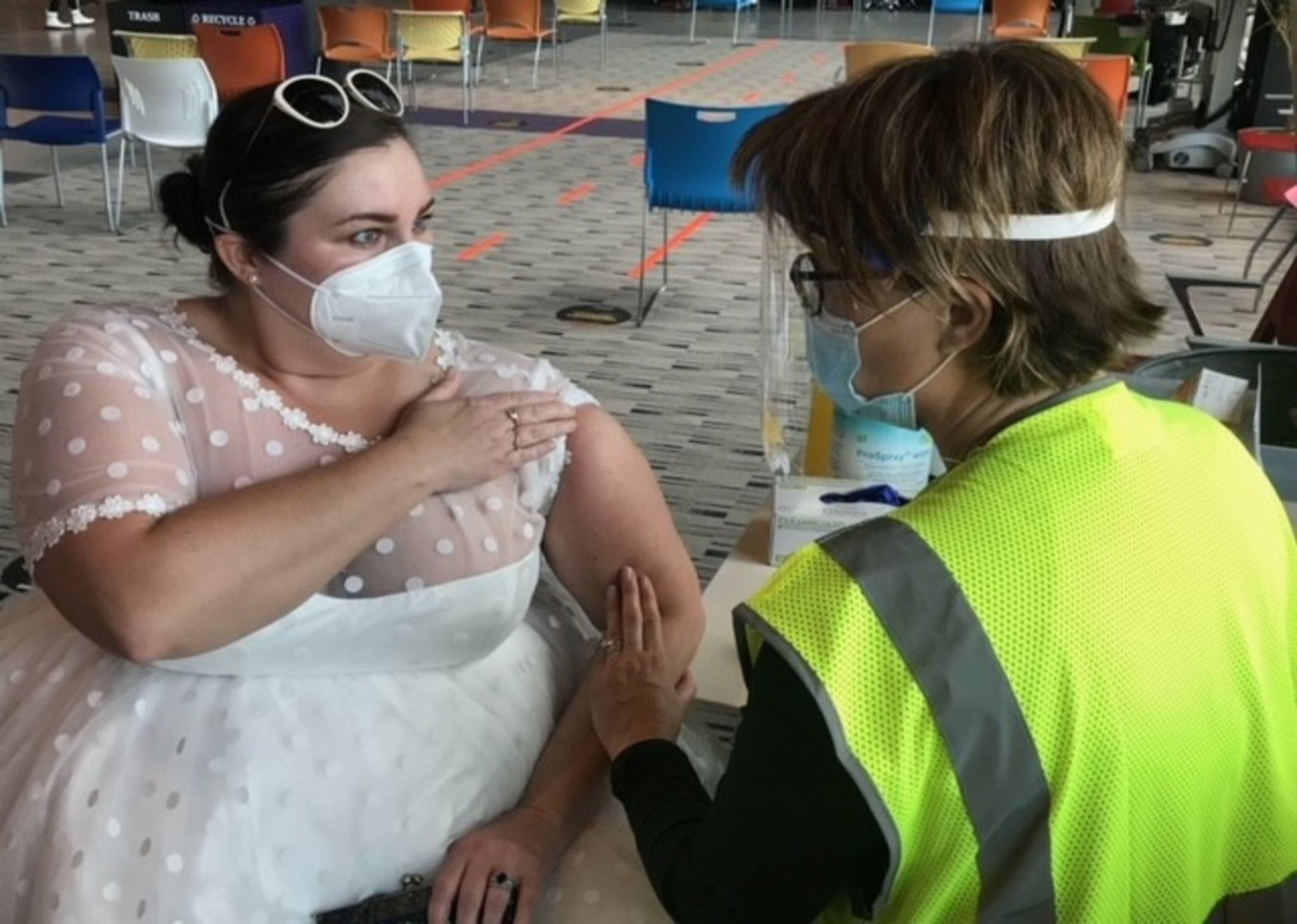 Bride Who Canceled Wedding Due to COVID-19 Wears Her Dress to Vaccine Appointment