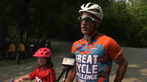 Winnipegger cycling 1000km for children's cancer research