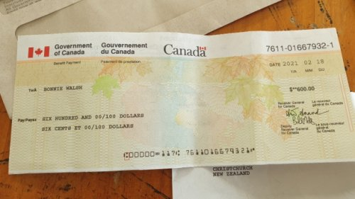 Canadian family living in New Zealand receives COVID-19 benefit cheque addressed to dead daughter