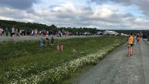 Protesters angry over travel restrictions from N.B. block Trans-Canada highway in Thomson Station, N.S.
