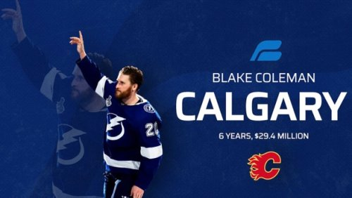 Flames sign double Stanley Cup winner Blake Coleman