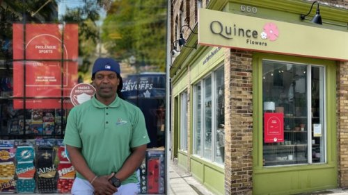 Rest in peace: More than 400 tombstones placed in Toronto small business storefronts