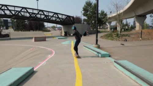 Calgary park transformed into inclusive area for blind and visually impaired skateboarders