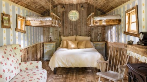 Winnie the Pooh's tree house for rent at this 'Bearbnb'