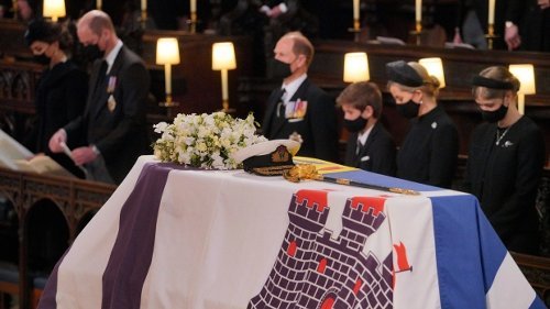 Latest updates: Queen sits alone in chapel at Philip's funeral