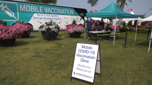 Mobile vaccine clinic makes stop at Heritage Festival