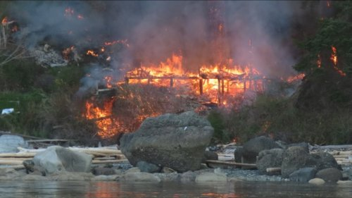 Hornby Island man loses home in historic cabin fire
