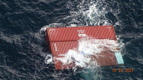 Container ship burning off B.C. coast