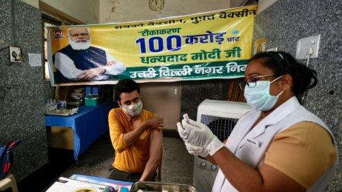 India celebrates 1B vaccine doses, hopes to speed 2nd shots