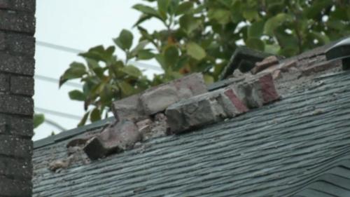 'It was pretty crazy': Lightning strike blows chimney into Burnaby backyard