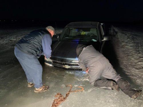 Sudbury emergency crews respond to multiple vehicles falling in ice