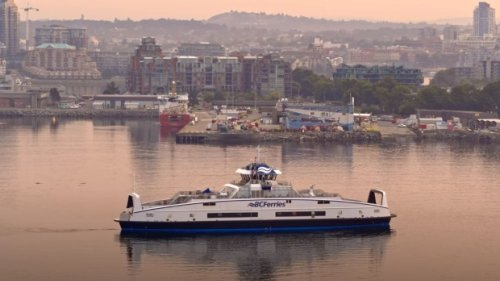 BC Ferries' 4th hybrid vessel arrives in Victoria