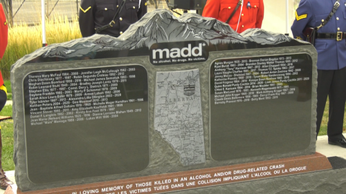 Monument honours Albertans killed by impaired drivers