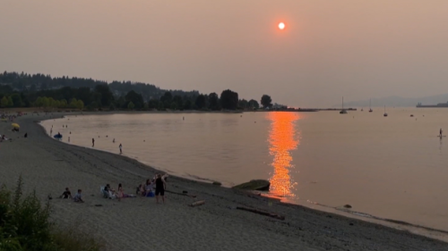 Shift in weather could push wildfire smoke from Lower Mainland back into B.C. Interior