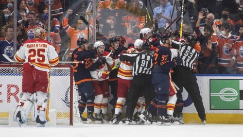 Calgary defenceman Rasmus Andersson fined $5,000 for roughing Edmonton's Yamamoto