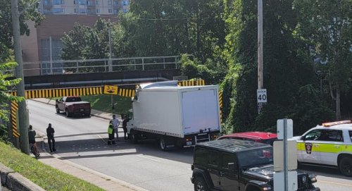 Talbot Street Bridge takes bite out of another truck
