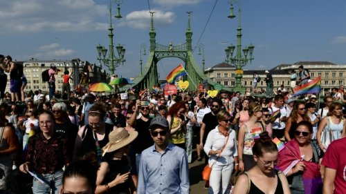 Thousands march in Hungary Pride parade to oppose LGBTQ2S+ law