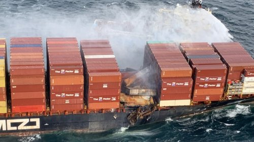 More than 100 shipping containers fell from crippled cargo ship off B.C. coast