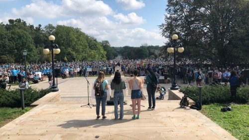 Thousands rally at Western University to protest sexual violence