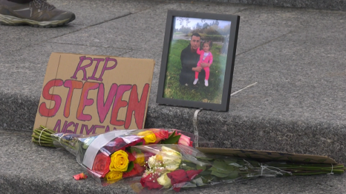 Family and friends gather to mourn man killed by police