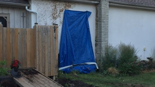 Pickup truck crashes into residence on Churchill Drive in Cambridge