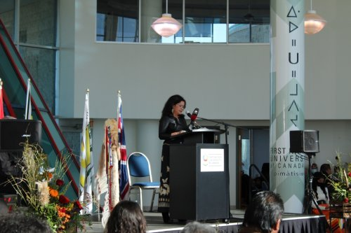 """""""This is the perfect time for you to be our leader,"""" First Nations University of Canada welcomes new President."""
