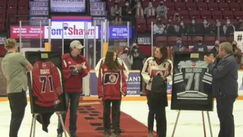 North Bay minor hockey associations honour Noah Dugas
