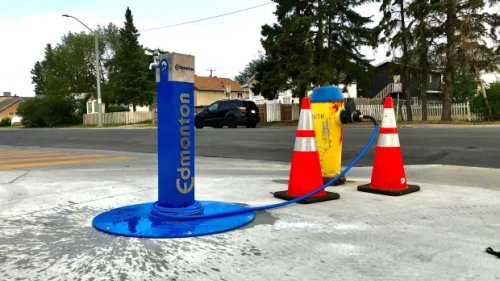 City of Edmonton pilot project converts fire hydrants into water stations