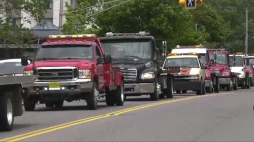 Parade to protest: Tow Trucks sound their horns to protest a proposed new by-law in CBRM