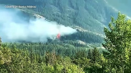 Crews busy as wildfires hit southwest Alberta