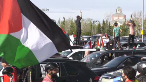 'What we're witnessing… is genocide': Edmontonians rally in support of Palestinians